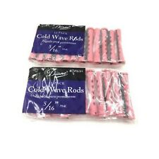 "Diane 5/16"" Cold Wave Rods Curlers Hair Perm #DCW6 12-pieces - Pink 2- pack"