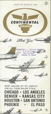 Continental Airlines system timetable 8/6/61 [0112]