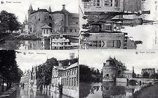 Lot Of 4 Antique Original Postcards - Bruges, Belgium