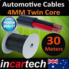 4mm x 30 Meters 30M Twin Core Wire Cable  Battery Car Caravan Trailer 4X4 12v AU