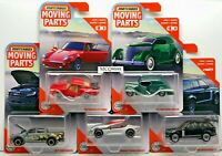 MATCHBOX 2020 MOVING PART COMPLETE SET 5 CAR  FORD PORSCHE RANGE ROVER CONCETP