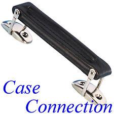 Ledergriff - schwarz # Vollrindleder # Koffergriff Leder # Leather Handle black