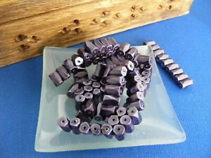 Magnetic Hematite Faceted Tube Beads Pack 100 8mm Purple Craft Jewellery Making