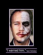 """017 Heath Ledger - Australian Actor The Joker Film Movie 14""""x18"""" Poster"""