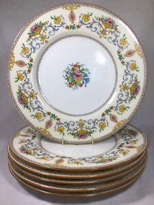 (6) Antique Minton 'Talbot' 10.75 Inch DINNER PLATES  1928-40