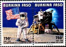 Burkina Faso 1994 - 25° anniversario sbarco sulla Luna - serie 2 val. in coppia