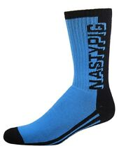 1 PAIR NASTY PIG Style #7373 Gay Interest Men's BLUE 3D Socks Brand New!