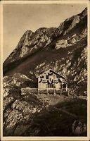 Allgäuer Alpen Berghütte Allgäu AK ~1930 Pfrontner Hütte mit Aggenstein Gipfel