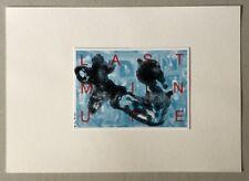 Thomas Rieck, Last Minute, übermalte Postkarte, 2016, handsigniert und datiert