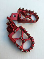 PEDANE MAGGIORATE IN ERGAL HONDA CR 125 250 CRF 250 450  FOOT PEGS FOOTPEGS