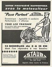 W5003 Motocoltivatore STAUB - 12 Modelli - Pubblicità 1960 - Advertising