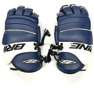 Brine L-33 Floating Cuff Lacrosse Gloves Blue & White