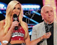 RIC FLAIR & CHARLOTTE FLAIR WWE LEGENDS SIGNED AUTOGRAPH 8X10 PHOTO JSA COA