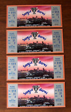 4 Vintage UNUSED 1985 SUGAR BOWL FULL TICKETS Ticket Stub NEBRASKA VS LSU TIGERS