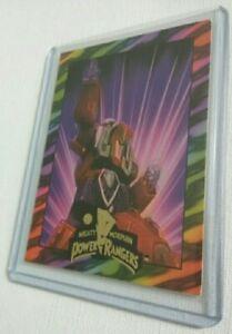 MEGA THUNDERZORD 1995 MIGHTY  MORPHIN POWER RANGERS FOIL  MMPR TRADING CARD 9.7