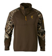 Browning Wicked Wing Timber Fleece 1/4 Zip Pullover Jacket - Sz. M Max-5 Hunting
