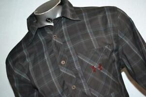 26161-a Mens Under Armour Fishing Shirt Athletic Size Large Gray Plaid Polyester