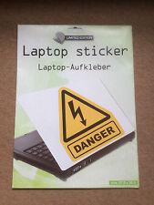 Laptop Cover Skin Sticker - Danger - 27.5 x 36.6cm
