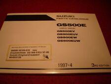 Ersatzteilliste Parts Catalogue Suzuki GS 500 E / EU Baujahr 1997 - 1998