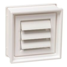 Dryer Vent for Glass Block Windows Vinyl Rust Rot Resistant Exterior Louvers