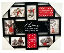 Large Black Picture Photo Frame Collage with Home Quote 12 Photos Family/Friends