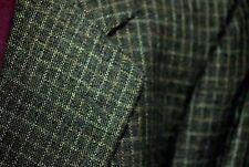 Aquascutum 2 Button Fine Soft Wool? Sport Jacket 44-46? Blk Gold White Check VG