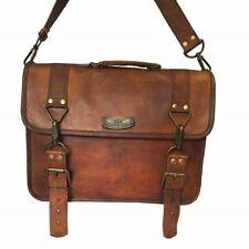 "Laptop Briefcase Satchel Bag Unisex Vintage Leather Messenger 15"" 16"" 17"" 18"""