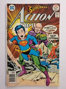 ACTION COMICS #466 (VG/F) 1976 NEAL ADAMS COVER ART, LUTHOR SUPERMAN COVER & APP