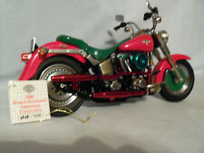 Harley Davidson Franklin Mint  2000 Christmas FLST Fat Boy w/ COA