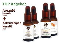 50 ml Kaktusfeigenkernöl 100% Bio + 50 ml Bio Arganöl ungeröstet Kaltgepresst.