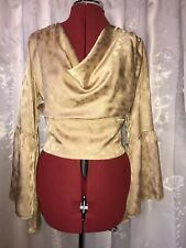 1940s Gold Satin Evening Top. 12-14. Party Ball