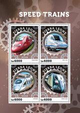 Sierra leone 2016 neuf sans charnière trains à grande vitesse thalys ave 4v m/s chemins de fer timbres