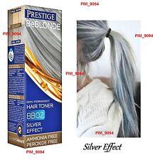 PRESTIGE BeBlonde SILVER EFFECT Semi-Permanent HAIR TONER BB02 Ammonia Free