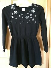 NWT Gymboree Holiday Shop Snowflake Sweater Dress Black Girls Outlet
