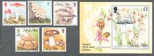 Isle of Man-Fungi-Mushrooms set & Min sheet mnh 1995