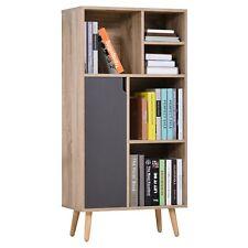 Wooden Bookcase Cupboard Display Shelves Storage Furniture Unit Modern Design