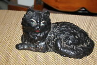Vintage Iron Art Cast Iron Black Cat Door Stop