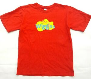 Vintage Licensed THE WIGGLES Logo Graphic Red T-Shirt Tee Size Adult L Kids TV