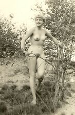 "D310 # VINTAGE PHOTO su ""agfa lupex"" 1960`s Nude Pin-Up Girl NSI Nudist atto NUDO"