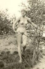 """d310 # Vintage Photo auf """"Agfa Lupex"""" 1960`s nude Pin-up girl nus Nudist Akt FKK"""