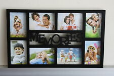 High Class Plastic 8 in 1 Multi Photo Frame -'Memories'  - On Sale