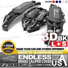 Aluminum alloy 3D ENDLESS Style Universal Brake Caliper Cover 4 pcs BK L+S LW01