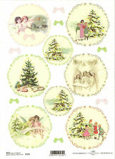 Rice Paper for Decoupage, Scrapbooking, Christmas Tree Angels  , A4 ITD R172