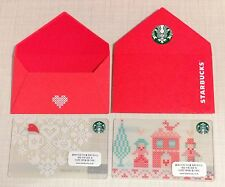 Starbucks Korea 2015 Valentine Day Card Set with Matching Sleeve