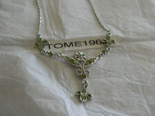 Premier Designs ANASTASIA green crystal Y necklace RV $31 free ship w/bin