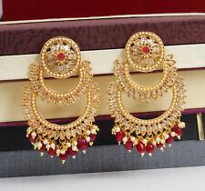 Exclusive Indian Bollywood Ethnic Ruby Jhumki Earrings Wedding Women Jewelry Set