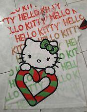 Christmas Spirit: Hello Kitty by Sanrio Junior V-neck Shirt, Size L(11/13), NWT