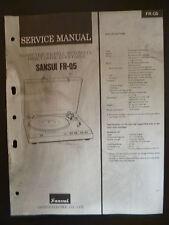 Original Service Manual Sansui Turn Table FR-Q5