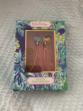 NIB Lilly Pulitzer Earbuds with Silicone Tips Wade And Sea