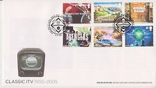 GB Royal mail FDC PRIMO GIORNO DI COPERTURA 2005 Classic ITV Stamp Set tallents House PMK